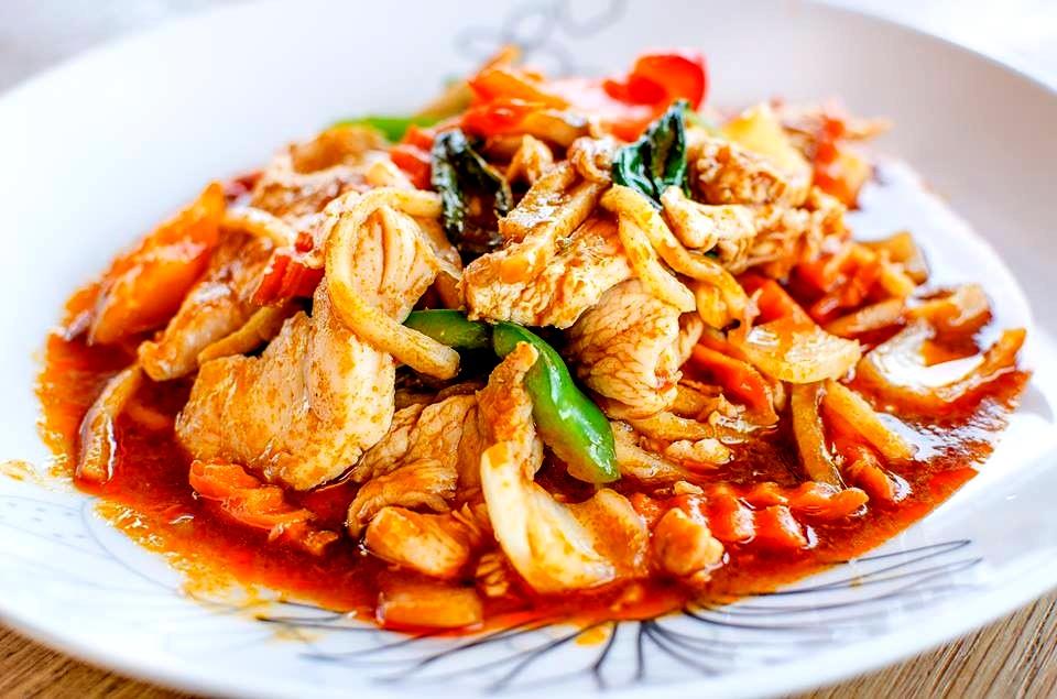 kycklinggryta med grön currypasta
